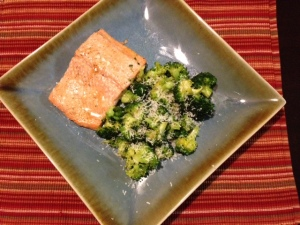 Trout in Citrus Brown Sugar Sauce with Broccoli